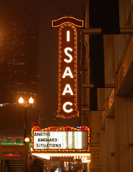 Isaac On the Marquee